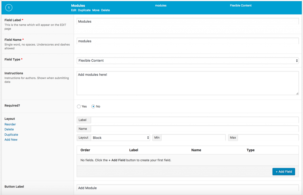 Building a Page Builder with Advanced Custom Fields