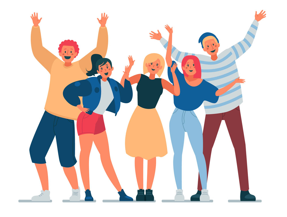 A group of socialites - a group in gamification that prefers social interactions over all else